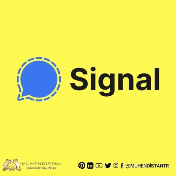 whatsapp benzeri uygulamalar arasında signal